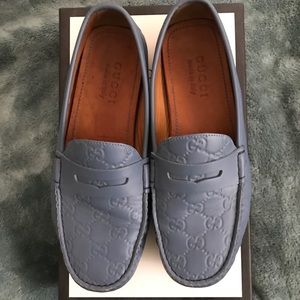 Gucci Light Saturated Blue Driving Moroccan